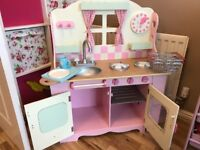 Wooden play kitchen (early learning centre) £50.00