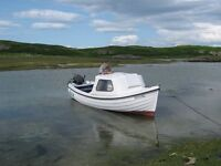 16ft Orkney Longliner fishing boat, Mariner 9.9 HP 2 stroke engine, Trailer.