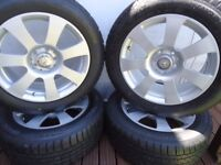4 x17 GENUINE MERCEDES AlLOY WHEELS AND NEW WINTER TYRES VITO/VIANO
