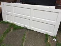Internal doors white x 2