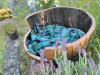 Recycled Scottish whisky barrel dog bed