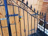 Garden iron gates