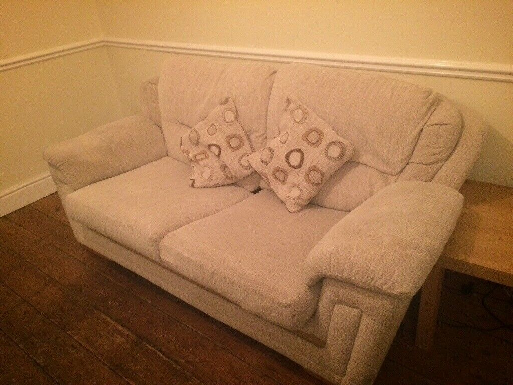 Cream SOFA BED, well looked after, easy pull out mechanism