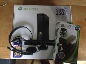 Xbox 360 Kinect + games +extras