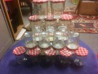 24 Bonne Maman previously used jars