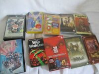 Joblot 10 assorted video tapes, Police Academy,Lost World, Lord of the Rings,War of The Worlds