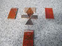 ART DECO 1930s CERAMIC TILES. Fireplace/reclamation/mosaic/craft/restoration/hearth/ builders