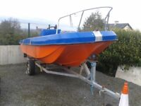 16ft open boat and trailer