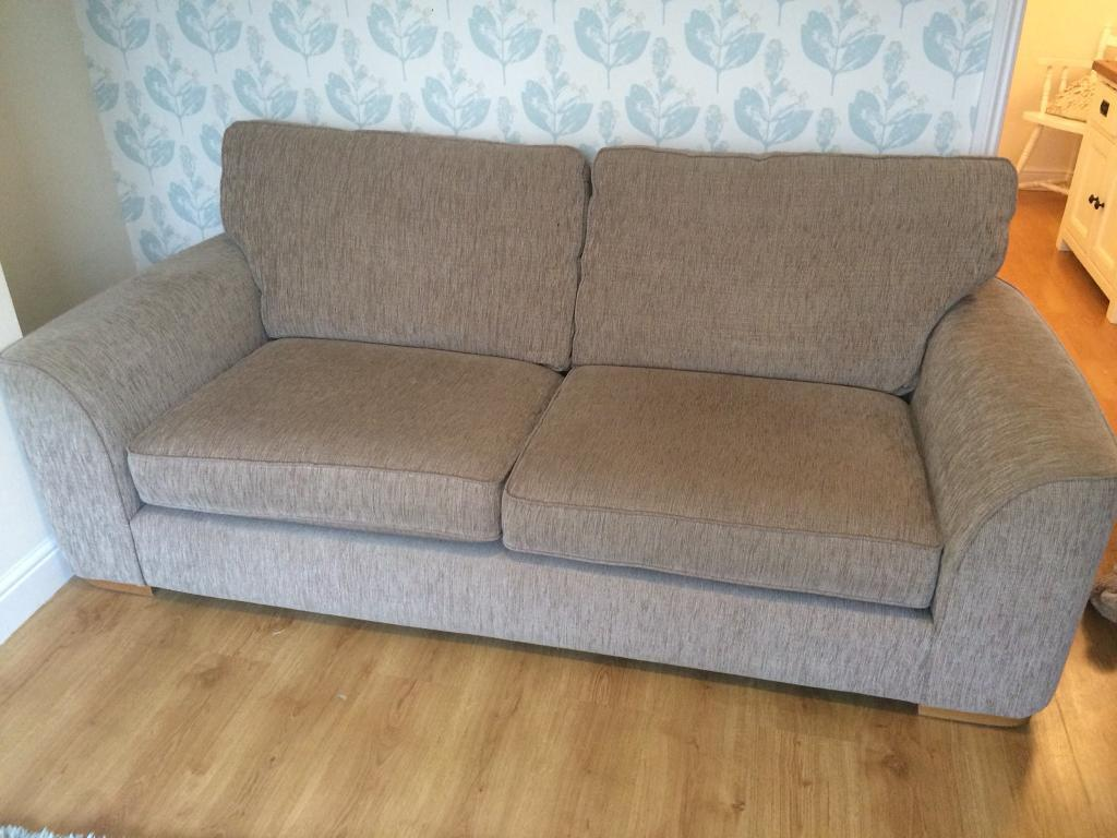Furniture Village Lonsdale 3 Seater Sofa And Footstool