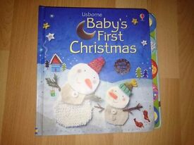Usborne Baby's First Christmas Book with CD