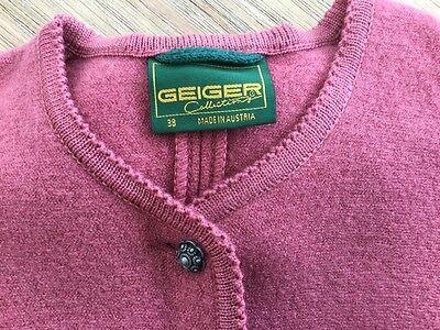 Damen Trachten Janker Jacke rosa , reine Schurwolle  ,Gr. 38v. Geiger