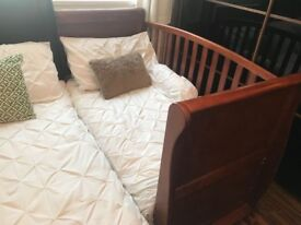 Wall nut Solid wood cot bed with matteress.