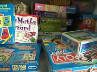 Assortment of games & puzzles - good condition inc. Orchard Toys games