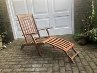 Wooden recliner chair