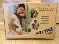 like new * HOUSE CLEARENCE* AMAZONAS sides baby carrier MEI TAI TREE healthy your baby development