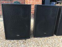 2x Void Acoustics Venu 12 Speakers + Brackets ( Powersoft Club sound system install )