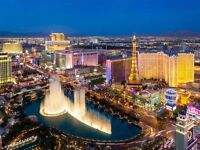 1 flight ticket, London- Las Vegas, 5 Dec