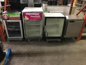 Small commercial under counter fridges and freezer ( like new ! ) glass door and stainless available