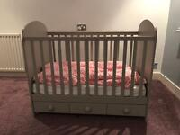 Cot Gonatt light grey IKEA