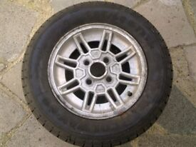 Ford Capri Wheel Rim and Tyre Very good condition with 7mm+ tread 205/60 R13 COLWAY 60 tyre