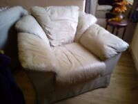 Leather 3 piece Suite, Sofa & Two Chairs