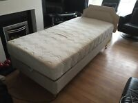 Single adjustable disability bed