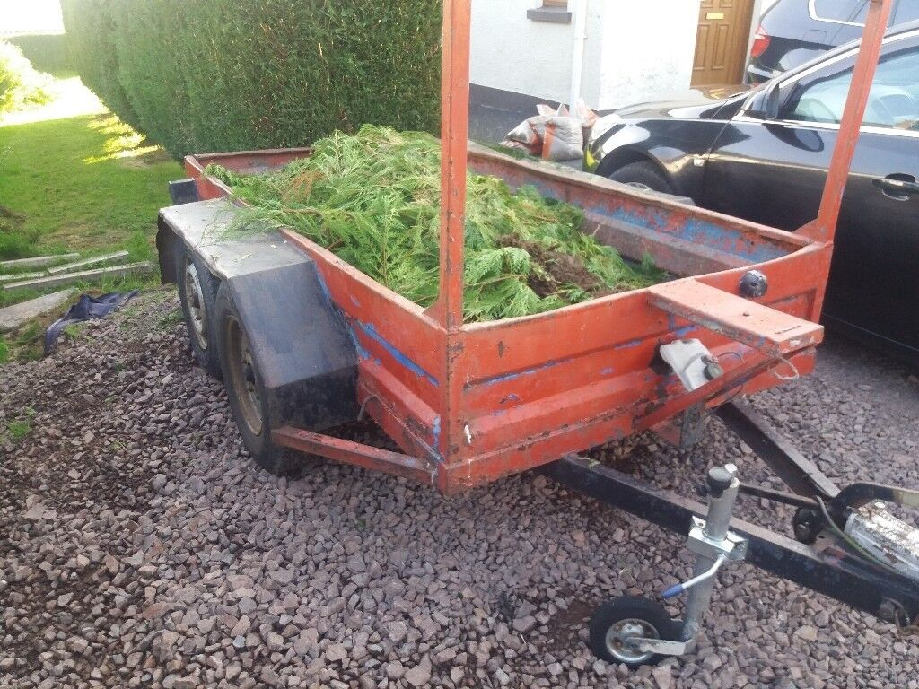 Good strong steel framed wooden floor trailer lights working no ...