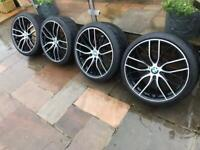"""19"""" 5x120 405M Style Alloy Wheels Alloys With Tyres Staggered 3 4 5 6 2 Series"""