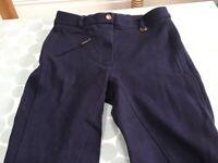 Ladies/Girls RIDING JODHPURS : Sheldon brand; Navy Blue; New - never worn; Waist 26 inches. for sale