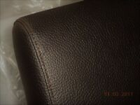 John Lewis Single Bed headboard & end panel only leather look - NEW - was expensive