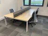 Bench style desks for sale
