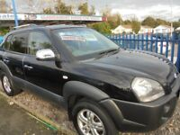HYUNDAI TUSCON 1975cc CDX 5 DOOR 4W/D 2007-57, ONLY 81K FROM NEW,