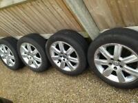 "15"" genuine VW Polo mk5 wheels and tires Audi A3 A4 VW Golf caddy 5x100 Alloys"