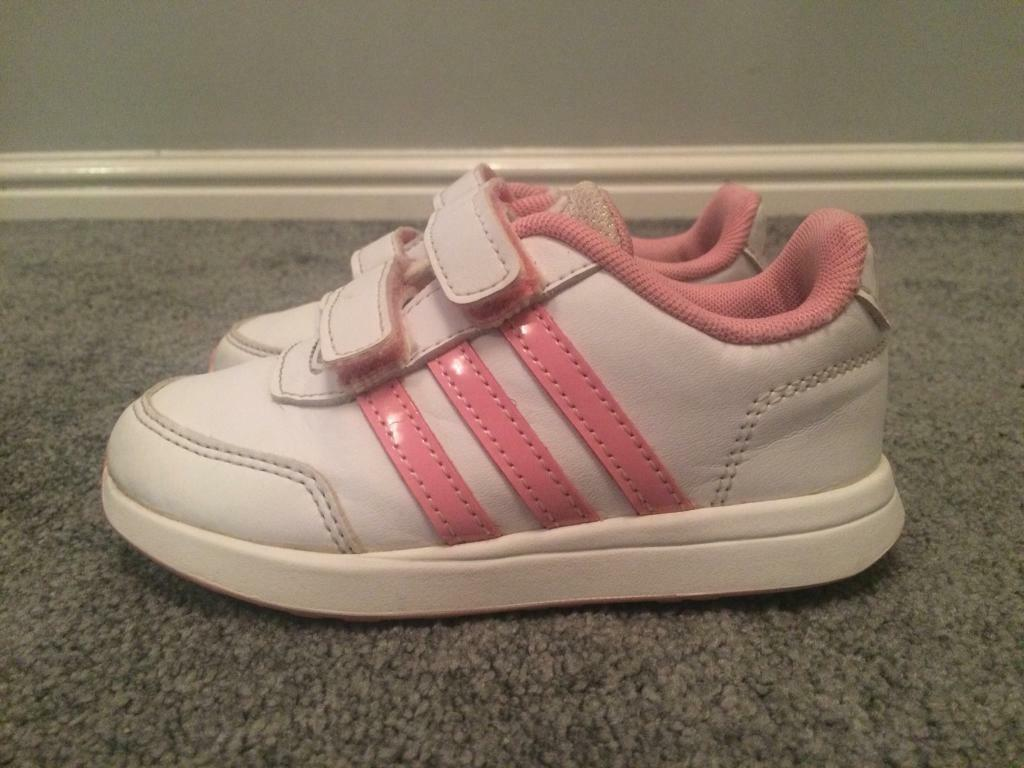 girls adidas trainers infant size 8