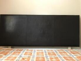 Headboard (faux leather) to fit double bed. New & not used