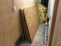 Job lot General Purpose 18mm OSB Chipboard Sheets & Loft Insulation