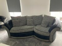 2 X 3 seater curved sofas