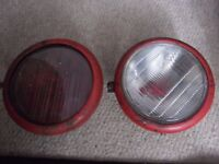 vintage massey ferguson headlight shells and glass