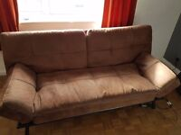 Faux suede sofa bed/futon