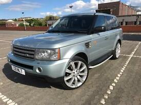 RANGE ROVER SPORT 2.7 DIESEL IN RARE ARTIC FROST SILVER.PRIVATE PLATE.NEW TYRES.3 KEYS.SWAP MERCEDES