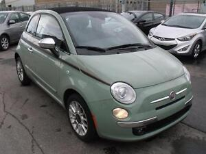 2012 FIAT 500C LOUNGE CONVERTIBLE /CUIR