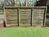 Overlap Fence Panels x 5