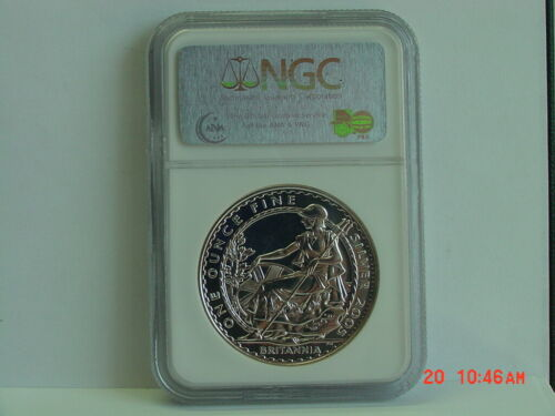 2005 GREAT BRITAIN £2 2 POUND BRITANNIA 1 OZ SILVER NGC MS69