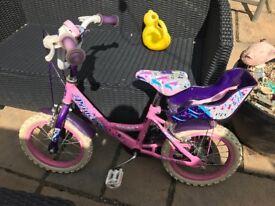"""14"""" princess child's bike"""