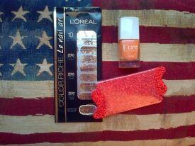 Kure Bazaar Nail Polish, Swissco Glitter Toe Separators & L'Oreal Nail Art