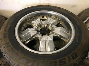 275/60/20 Cooper Discover tires+rims 80%