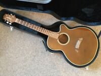 Takamine EF261SAN electro acoustic guitar and case