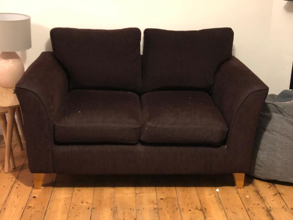 Amazing Compact 2 Seater Plum Sofa In Bath Somerset Gumtree Gmtry Best Dining Table And Chair Ideas Images Gmtryco