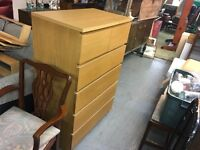 OAK EFFECT MALM TALL BOY (delivery is available a for a small fee )