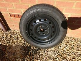 Honda Civic 2001-2005 15 inch spare steel wheel, unused Bridgestone 195 60 15 88H Potenza tyre
